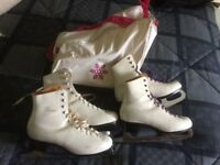 Girls iceskates, sizes 39 and 41, £20 per pair , £5 skate bag