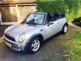 Mini copper convertible 1.6 petrol low mileage