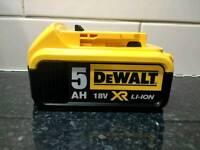 Dewalt 18V 5ah Battery DCB184 BRAND NEW