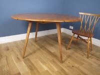 Mid Century Drop Leaf Windsor Dining Table Natural By Ercol Model 384