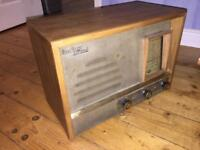 Vintage tube radio everready skylord