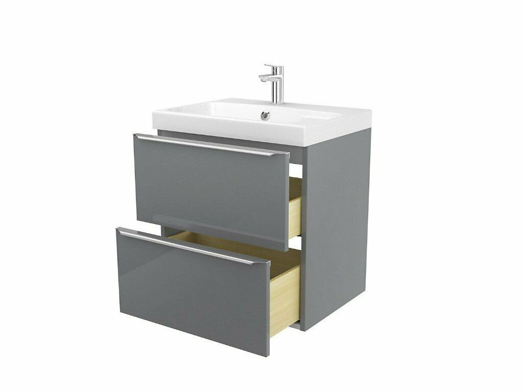 New Cooke And Lewis B Q Bathroom Wall Hung Imandra Unit Sink