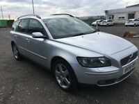 (56) Volvo V50 2.0D (E4) Estate , mot - October 2018 , full history 9 stamps , saab,vectra,mondeo,