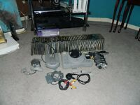 PS1 (not slim), all wires, controller and 3 memory cards