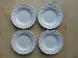 "BHS BARATTS LINCOLN 7"" WIDE TEA/SIDE PLATES X4"