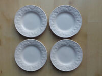 """BHS BARATTS LINCOLN 7"""" WIDE TEA/SIDE PLATES X4"""