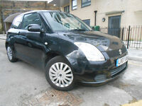 2007 SUZUKI SWIFT 1.3 GL BLACK CAR with FSH part exchange x swap swop possible not corsa fiesta polo