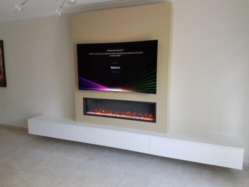 Sfeerhaard Tv Meubel : ≥ zwevend tv meubel wandkast met faber opti myst sfeerhaard