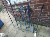 Bunch of gardening tools