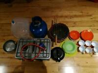 Mixed camping cooking equipment