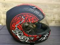 Marushin full face motorbike / motorcycle helmet