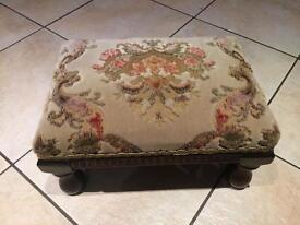 Lovely Green carpeted Footstool