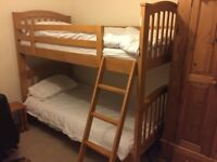 Joseph wooden bunk bed (or 2 single) no mattresses