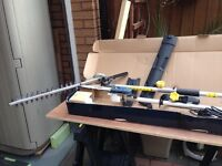 2in1 long reach pole hedge and chainsaw trimmer