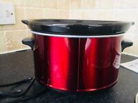 URGENT: Andrew James Premium Red Slow Cooker Crock Pot 1.5L, 120W