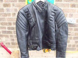 Ladies size 14 leather bikers jacket