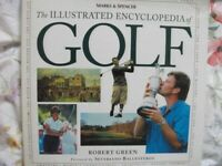 Book The illustrated encyclopedia of Golf, large hadback