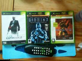 XBOX GAMES AND REMOTE CONTROL
