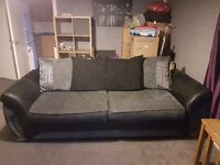 Four seater Matinee pillow back foam cushion sofa in charcoal comb
