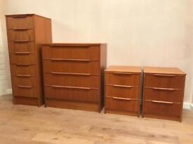 Vintage Teak Bedroom Furniture Made in Denmark 🇩🇰 by Steens