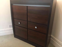 Great condition brown wood cabinet - modern design