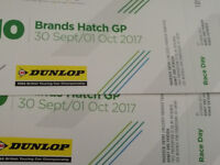 2 tickets Brands Hatch GP 30 September/1 October BTCC £60