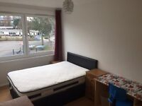 LARGE DOUBLE ROOM TO RENT IN A VERY CLEAN FLATSHARE, TUBE STATION SURREY QUASY,CANADA WATER SE16