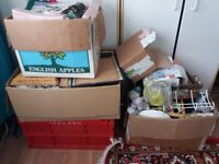 Car boot job lot x 6good sized boxes mixed items all good quality