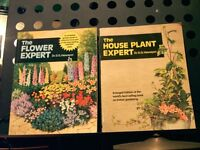 "GARDENING BOOKS. ""THE FLOWER EXPERT"" & ""THE HOUSEPLANT EXPERT"" & ""COME INTO THE GARDEN"" VERSE BOOK"