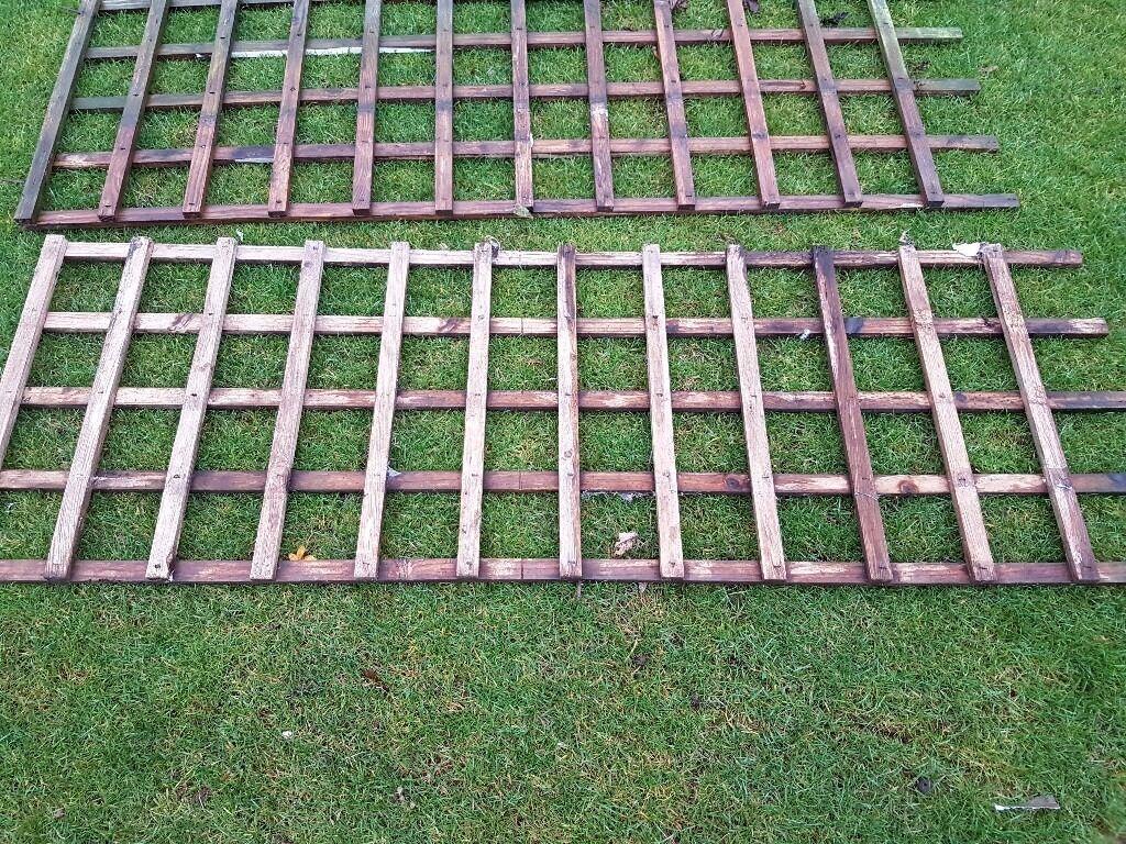 4 x Wood Trellis Panels
