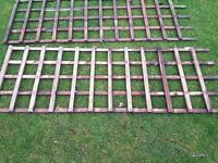 4 x Wood Trellis Panels