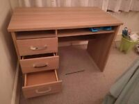 Computer Table with 3 drawers £70 ONO - Need gone ASAP.