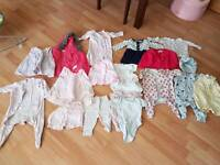 0-3 month bundle of girls clothes
