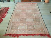 Original Hand Made Antique Moroccan Berber Carpet Kilim Rug (Large)