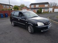 2005 Kia Carens, Diesel, long MOT, 1 owner.