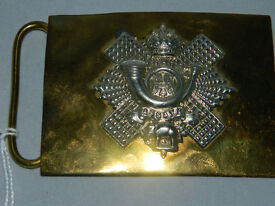 Waist belt buckle of The Highland Light Infantry HLI by Hobson &sons of London ltd. Guide