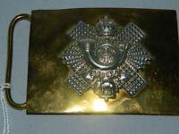 Waist belt buckle of The Highland Light Infantry HLI by Hobson &sons of London ltd. Guide