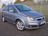 2007 (07) Vauxhall Zafira Design 7 Seater MPV ** 1/2 Leather ** Long MOT ** Alloys **
