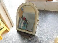 vintage vanity mirror on swivel stand £10