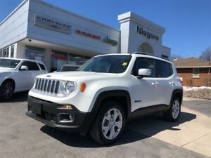 2017 Jeep Renegade LIMITED,HTD SEATS,MYSKY ROOF,4X4,LEATHER