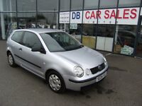 2004 04 VOLKSWAGEN POLO 1.2 S 3D 54 BHP***GUARANTEED FINANCE***PART EX WELCOME***