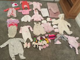 Baby clothes bundle 0-3 months (approx 55 items)