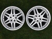 2 Brabus Style Mercedes Monoblock Alloy Wheels 18 x 8.5J