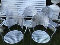 Emu Italian designer steel stacking chairs industrial outdoor cafe garden chairs