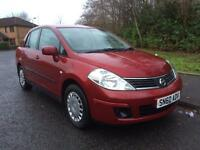 Nissan Tiida 1.6 4dr p/x welcome 1 OWNER + A CLARK , LONG MOT 2010 (60 reg),