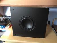 Q-Acoustics Subwoofer. Wall mountable.