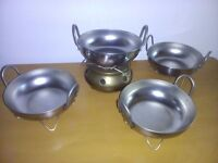 Balti dishes with stands