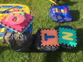 Foam Square Alphabet Tiles