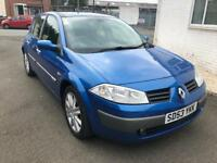 MEGANE 1.6 DYNAMIQUE 53 REG 5 DOOR IN BLUE WITH 93,990 MILES AND MOT