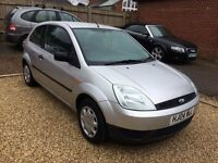 Ford Fiesta 1.25 petrol Finesse 3 door. 2004 in metallic silver. MOT until January 2018